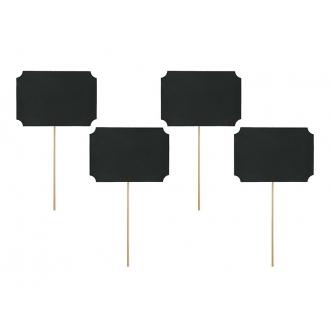 Karteczki na patyczkach, czarny, 11 x 8cm, 1op.
