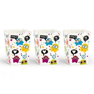 Pudełka na popcorn, 7,5 x 7,5 x 12,5 cm, 1op.