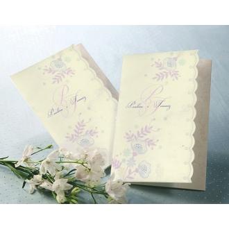 Zaproszenie z Motywem Kolorowych Kwiatów T1147