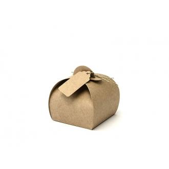Pudełeczka z zawieszkami, 6x6x5,5cm (1 op. / 10 szt.)