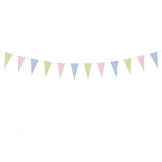 Girlanda papierowa Pastelove, 1,35m, 1szt.