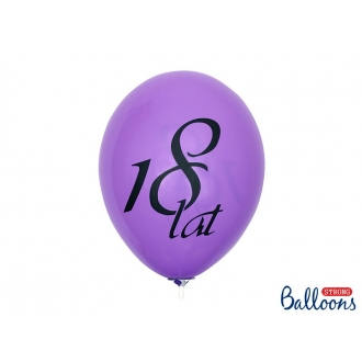 Balony 27cm 18 lat, Pastel Mix, 50szt.