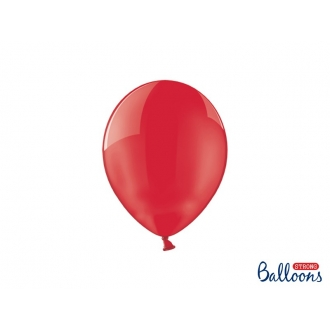 Balony Strong 23cm, Crystal Poppy Red, 100szt.
