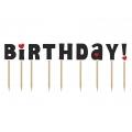 Karteczki na piku Happy Birthday!, 9,2cm, 1op.