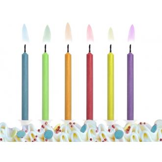 Świeczki urodzinowe Kolorowe Płomienie, mix, 1op.