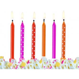 Świeczki urodzinowe Kolorowe, mix, 1op.