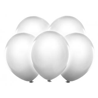 """Balony Led 12"""", biały, 5szt."""