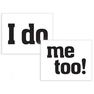 Naklejki na buty I do/me too!, 1op.
