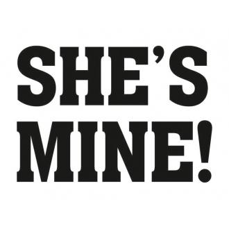 Naklejki na buty She's mine!, 1op.