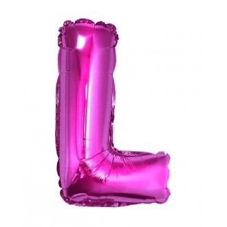 "Balon foliowy ""Litera L"", różowa, 35 cm"