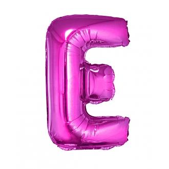 "Balon foliowy ""Litera E"", różowa, 35 cm"