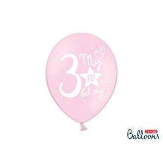 Balony 30cm, My 3rd bday, mix, 6szt.