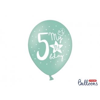 Balony 30cm, My 5th bday, mix, 6szt.