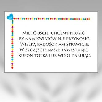 Bileciki/Wkładki do Zaproszeń B13