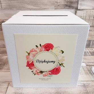 Pudełko na koperty i prezenty z Motywem Kwiatowym WP02