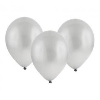 """Balon metaliczny 12"""" """"Bronisze"""" / srebrny, 100 szt."""