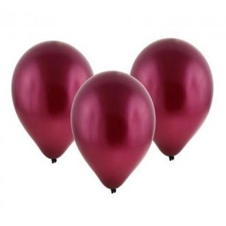 """Balon metaliczny 12"""" """"Bronisze"""" / bordowy, 100 szt."""