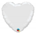 "Balon foliowy 18"" QL HRT ""Serce białe"""