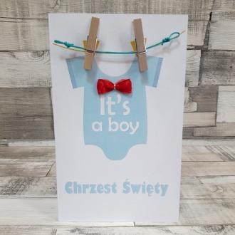 Zaproszenie na Chrzest It's a boy ZC10