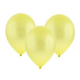 """Balon metaliczny 12"""" """"Bronisze"""" / żółty, 100 szt."""
