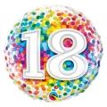 """Balon foliowy 18"""" QL CIR """"18 Confetti"""""""