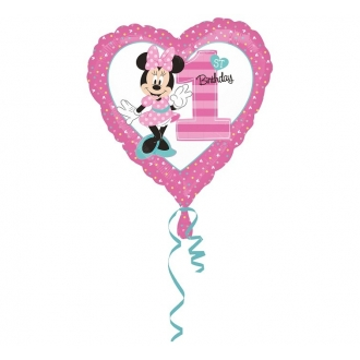 "Balon foliowy 18"" HRT - ""Minnie Mouse 1st Birthday """
