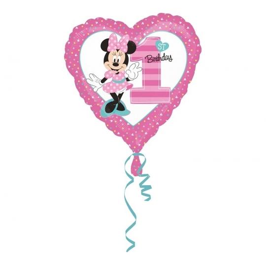"Balon foliowy 18"" HRT - ""Minnie Mouse 1st Birthday """