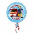 "Balon foliowy 18'' CIR - "" Strażak Sam Happy Birthday"""