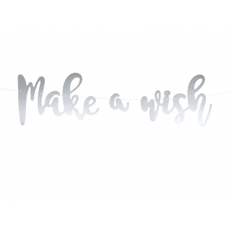 Baner Jednorożec - Make a wish, 15 x 60 cm, 1szt.