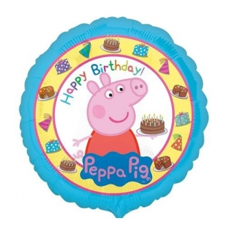 "Balon foliowy 18'' CIR - ""Peppa Pig Happy Birthday"""