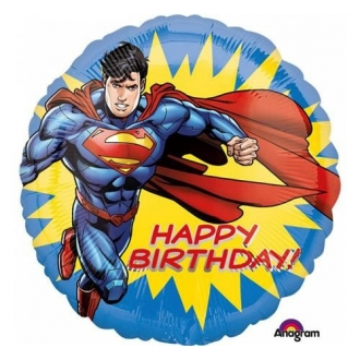"Balon foliowy 18'' CIR - ""Superman Happy Birthday """