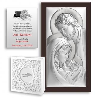 Obrazek Srebrny ze Świętą Rodziną WBC6380WM