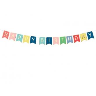 Baner Happy Birthday, mix, 15 x 175 cm