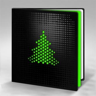 Kartka Świąteczna Zielona Choinka FS835ag