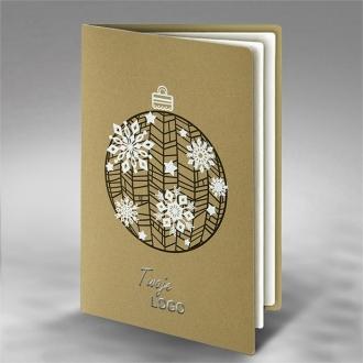 Kartka Świąteczna Bombka Śnieżynki FS775zz