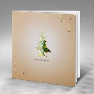 Kartka Świąteczna Kolorowa Choinka FS800