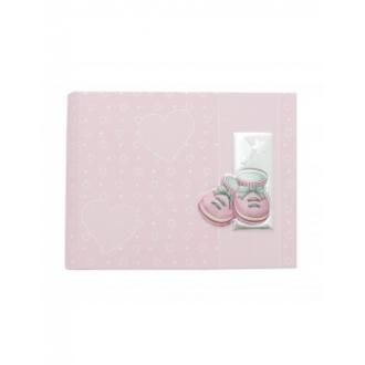 Album na zdjęcia z różowymi bucikami