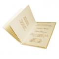 Zestaw zaproszeń ślubnych składający się z zaproszenia ślubnego, menu weselnego i winietki na stół Glade