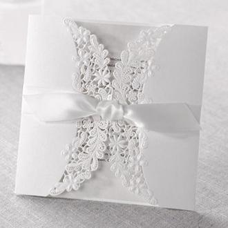 Zaproszenia Ślubne w Kolorze Białym PK838