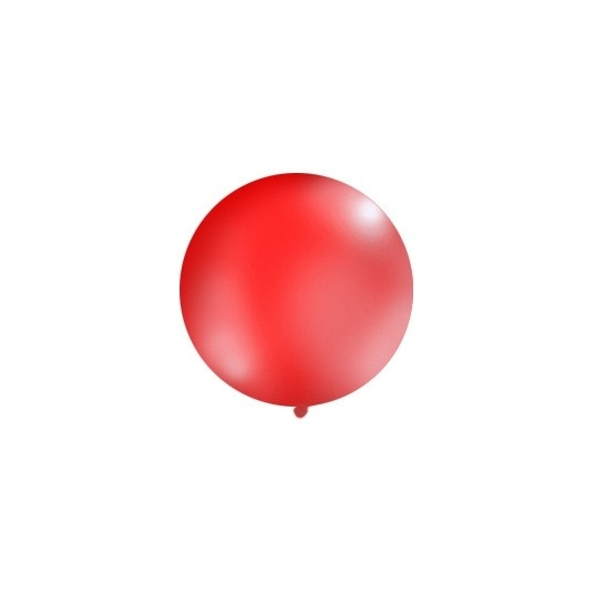 Balon 1m, okrągły, Pastel czerwony, 1szt.