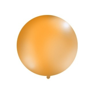 Balon 1m, okrągły, Pastel pomarańcz, 1szt.