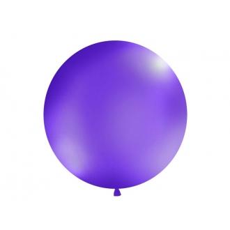 Balon 1m, okrągły, Pastel lawenda, 1szt.