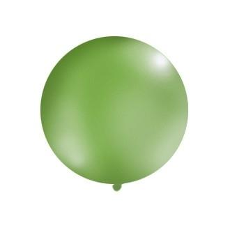 Balon 1m, okrągły, Pastel zielony, 1szt.