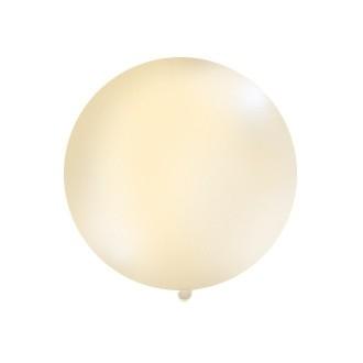 Balon 1m, okrągły, Pastel kremowy, 1szt.