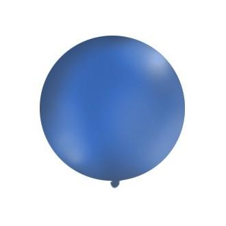 Balon 1m, okrągły, Pastel granat, 1szt.