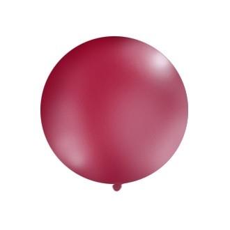 Balon 1m, okrągły, Pastel burgund, 1szt.