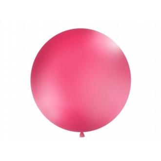 Balon 1m, okrągły, Pastel fuksja, 1szt.