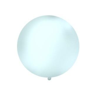 Balon 1m, okrągły, Pastel transparentny, 1szt.