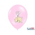 Balony 30cm, Słonik, Pastel Pink Mix, 6szt.
