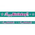 Taśma Happy Birthday, 7,5cm x 6m, 1szt.